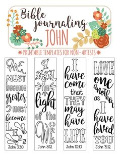 JOHN - printable Bible journaling template for non-artists. Just PRINT & TRACE!