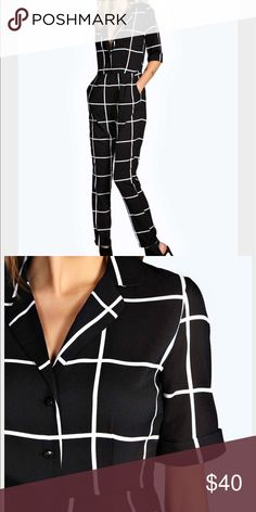 Large Grid Pajama Style Jumpsuit Brand new. Site tagged is not site it was purchased on. ASOS Pants Jumpsuits & Rompers