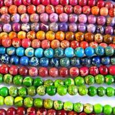 round ball assortment color imperial jasper bead 6mm---10strands