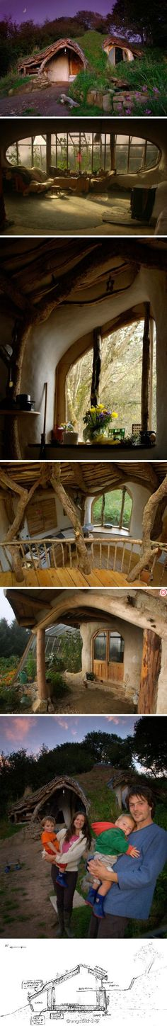 Hobbit House-photographer Simon Dale tired of the rigid urban life with his beloved wife to work together to create this reality version of the Hobbit House