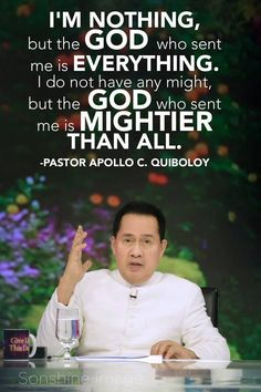 Pastor Apollo Quiboloy, also known as the Appointed Son of God, is a revolutionary preacher who brings the true message of salvation in these last days. Spiritual Words, Spiritual Enlightenment, Spirituality, Son Of God, Send Me, Revolutionaries, Apollo, Citizen, Ministry
