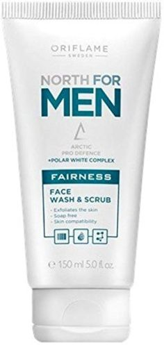 Oriflame Sweden North For Men Fairness Face Wash & Scrub (150 ml) -- Awesome products selected by Anna Churchill