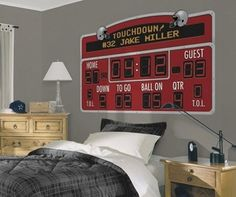 Football Scoreboard Peel & Stick Wall Decal - Free Shipping