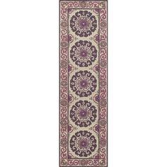 """Uzbek Vibes Hand Hooked Wool Indoor Rug (2'3"""" x 8')"""