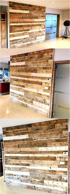 There is not a single idea of recycled wood pallet wall art; one can make changes in the shown idea according to the creative idea in mind. It looks amazing when the idea is copied for the TV launch on just one wall because it will not appear great if it is copied on all the walls.