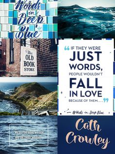 This wasn't my favorite read. However, this aesthetic is pretty great, so why not pin? Crowley, Deep Blue, Book Worms, Collages, Falling In Love, Book Art, My Books, Old Things, Australia