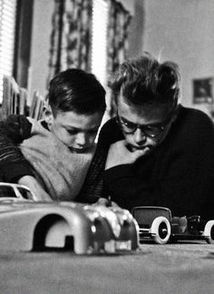 "jamesdeaner: "" James Dean with his cousin, Marcus, photographed by Dennis Stock. """