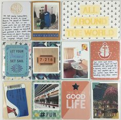 Mrs Crafty Adams: Cruise Project Life pages  Basic Grey Adrift Studio Calico