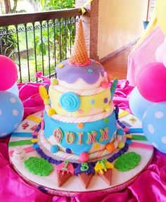 Ice Cream Theme Cake