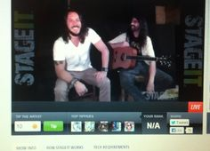 From Steve Carlson's  Stageit show featuring Jason Southard on 8-10-2013 The show was amazing!