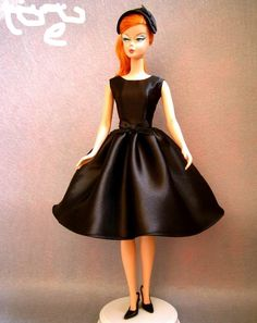 Silkstone Barbie in Black Satin Dress