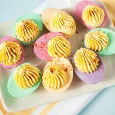 Repinned: Pastel Deviled Easter Eggs