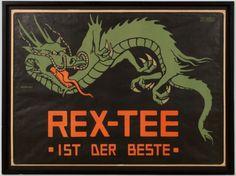 """Werbeplakat """"Rex Tee"""", Hans Lindenstaedt, Deutschland, um 1910"""