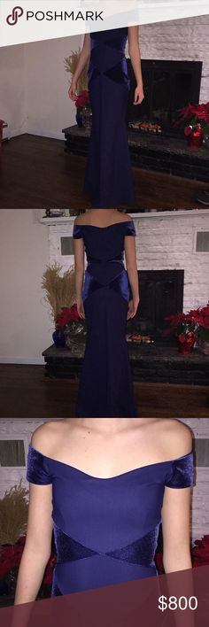 Gorgeous Chiara Boni gown Italian gown worn only once to a wedding. Perfect condition. Chiara Boni Dresses Maxi