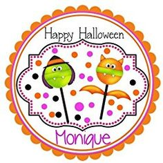 40 Labels Round Halloween Lollipop Witch and Vampire, Custom Labels, Personalized Party Favors - CHOICE OF. - to coupon layout Halloween Labels, Halloween Stickers, Happy Halloween, Personalized Party Favors, Personalized Stickers, Custom Labels, Witch, Coupon, Jamberry