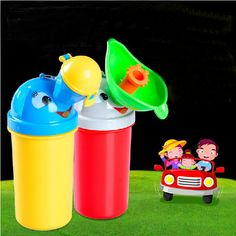Baby Kids Toddler Boys Girls Car Travel Pee Portable Urinal Toilet Potty Trainer