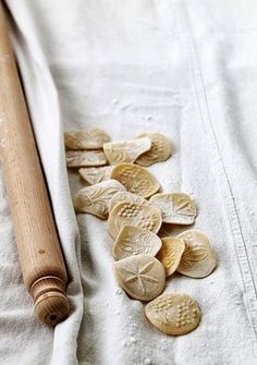 I love the look of this homemade italian pasta. What a great idea to stamp designs onto pasta. Fresh Pasta, Italian Pasta, Homemade Pasta, Food Design, I Love Food, Food Styling, Italian Recipes, Food Inspiration, Food Photography
