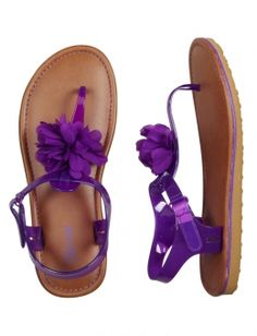 Jelly Flower T-Strap Sandals