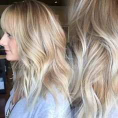 ice blonde and bangs!! So sassy #hairbymarissamae
