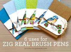 Clean Color Real Brush Video by Jennifer McGuire Ink