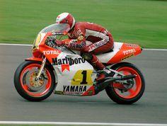 Eddie Lawson  Marlboro Team Agostini Yamaha  1985 British 500cc GP