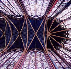 He Choir ceiling at Sainte-Chappelle, Paris, France