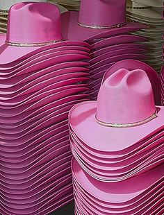 Pink cowgirl hats