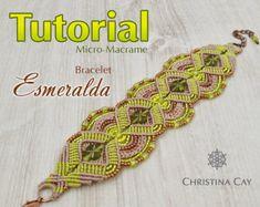 TUTORIEL PDF Micro-Macrame bracelet macramé motif par ChristinaCay