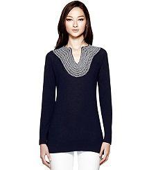 Tory Burch Tunics & Caftans: Women's Tops & Sweaters | ToryBurch.com