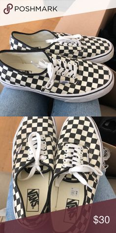 6a2bafa882 Checkered Authentic Vans. Vans ShoesShoes SneakersLoafers ...