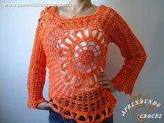 Blusa de Crochê Ana Maria Braga - Moda Adulto - Aprendendo Croche