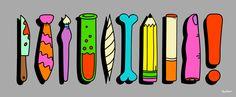 Get Organized Oliver Hilbert illustration graphic design art