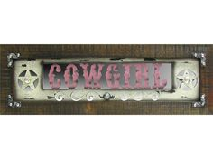 Pink Cowgirl Wood Wall Plaque