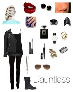 """""""Divergent: Dauntless"""" by captain-america-334 ❤ liked on Polyvore featuring J Brand, M&Co, ONLY, Lottie, Laura Mercier, Charlotte Tilbury, Chanel, Lord & Berry, B. Brilliant and Daniel Wellington"""