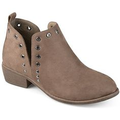 Womens Side Slit Stud Booties *** Click on the image for additional details. (This is an affiliate link) #AnkleBootie