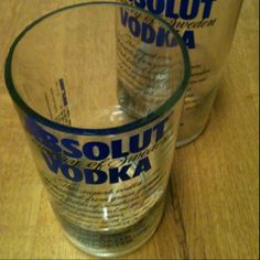 Drinking glass made out of an empty Absolut bottle in Little Rock, AR. Liquor Glasses, Marine Mom, Drinking Glass, Glass Bottles, Making Out, Empty, Repurposed, Recycling, Rock