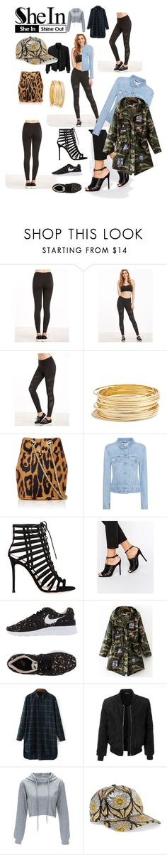 """""""Mesh Leggings"""" by michele-nyc ❤ liked on Polyvore featuring Argento Vivo, Jérôme Dreyfuss, Acne Studios, Gianvito Rossi, ASOS, NIKE, LE3NO and Gucci"""