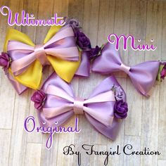 Rapunzel inspired bow from FangirlCreation on Etsy. Shop more products from FangirlCreation on Etsy on Wanelo.