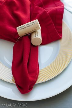 We teamed up with Laura Parke to create the perfect napkin ring to transition you from summer to fall. Enjoy some wine, save two corks and voila!