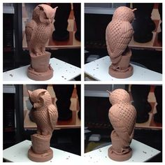 Recreating J.F Sebastian's chess set from Blade Runner, bishop owl sculpt. The owl bishop is the only piece I didn't really like, just the face really. I opted for a more eagle owl look, but otherwise faithful to the original. #bladerunner #birdchess #chess #chessset #jfsebastian #nexus6 #tyrell #bishop #owl
