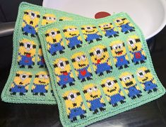 WP_20160820_13_57_17_Pro (2) Double Knitting, Knit Patterns, Minions, Pot Holders, Tatting, Projects To Try, Blanket, Crochet, Knits