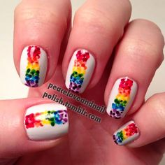 --> http://amzn.to/291Fl8H <-- 31 of the BEST RAINBOW LGBT PRIDE Inspired Nails we could find. Show your support by sharing! View them all here http://www.nailmypolish.com/rainbow-pride-lgbt-color-nails/