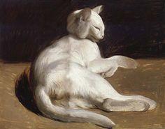 Théodore Géricault (1791-1824) - Le Chat Blanc (The White Cat).