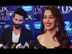 Shahid Kapoor's BEST COMPLIMENT for Madhuri Dixit at Lux Golden Rose Awards 2016.