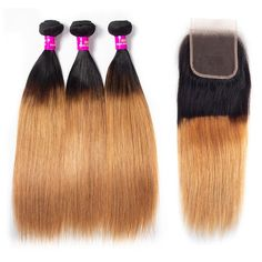 Cheap Ombre Straight Hair Color, Virgin Human Hair Bundles with Closure for full Head sale, Evan Hair Ombre Hair Honey Blonde Hair Bundles Closure Cheap Sale Online. Weave Hairstyles, Straight Hairstyles, Buy Hair Extensions, Best Virgin Hair, Honey Blonde Hair, Virgin Hair Bundles, Remy Human Hair, Lace Closure, Lace Frontal