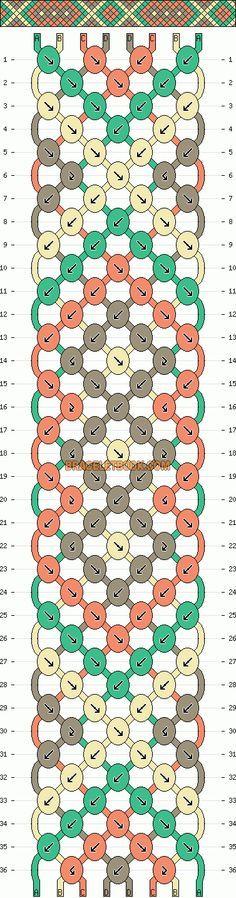 Normal Friendship Bracelet Pattern #10544 - BraceletBook.com