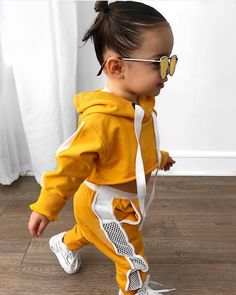 Image may contain: 1 person, child Cute Little Girls Outfits, Kids Outfits Girls, Toddler Girl Outfits, Cute Kids Fashion, Baby Girl Fashion, Toddler Fashion, Cute Mixed Babies, Black Baby Girls, Foto Baby