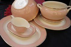 Rose set big plates and dishes Villeroy en Boch by BroCurio on Etsy