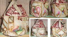 Pintura em tecido e costura do saco