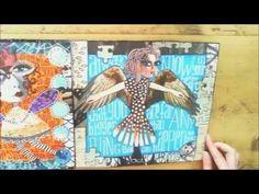 journal flip, same artist [Sandra Van Der Geest] with the magazine collaging